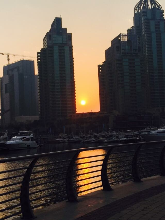 sunrise in Dubai